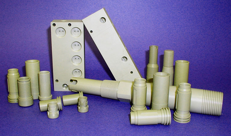 CNC machined PEEK parts/components